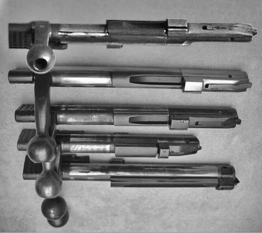 Lee-Enfield training rifles - bolt comparison