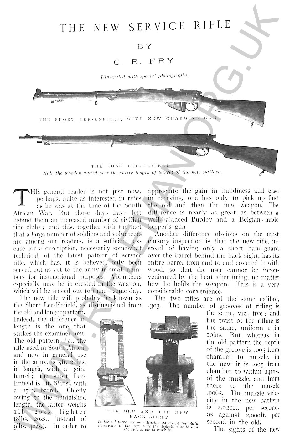 The Rifle, Short, Magazine, Lee-Enfield