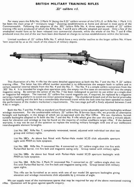 Lee-Enfield Rifle No 9 for the Royal Navy