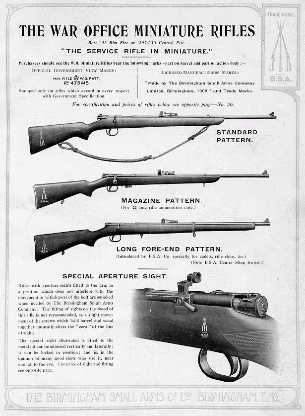 war office miniature rifle pattern 1906