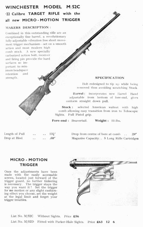 Winchester Model 52 rifles